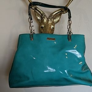 Kate Spade Teal patent shoulder bag